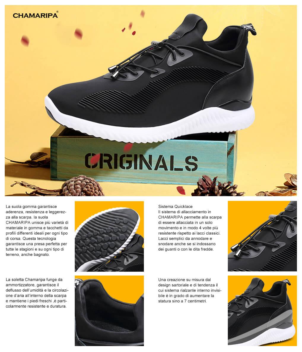 Scarpe Interno Tacco Ginnastica Con Alto Wok0pn Sneakers Uomo mwNnv08