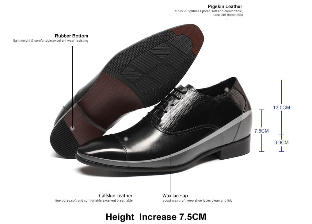 dress formal mens elevator shoes increase height make