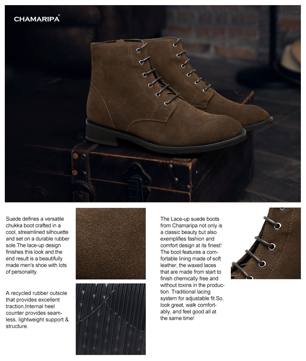 Boot bottom man rubber soft suede — photo 8