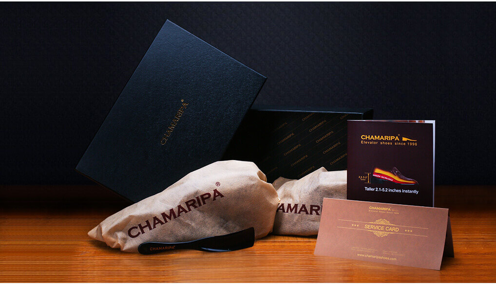 chamaripa elevator shoes packaging