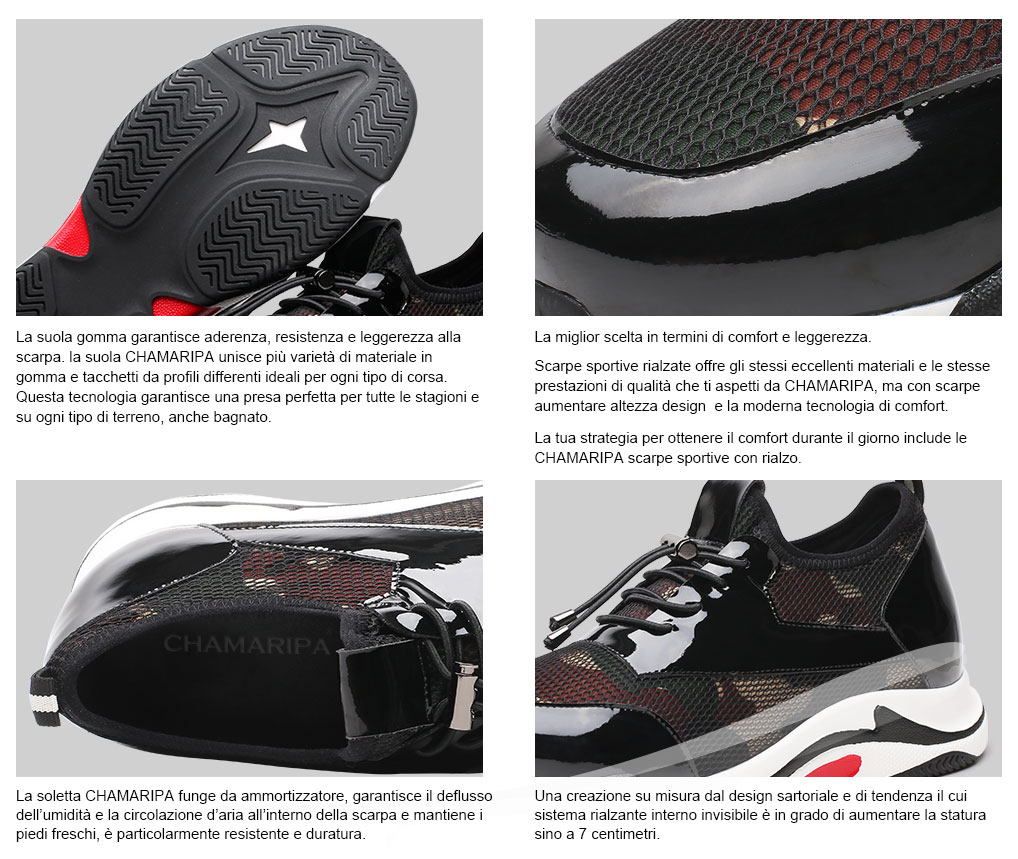 7 Rialzo Interno Con Sportive Scarpe Cm Tacco qCIwvf