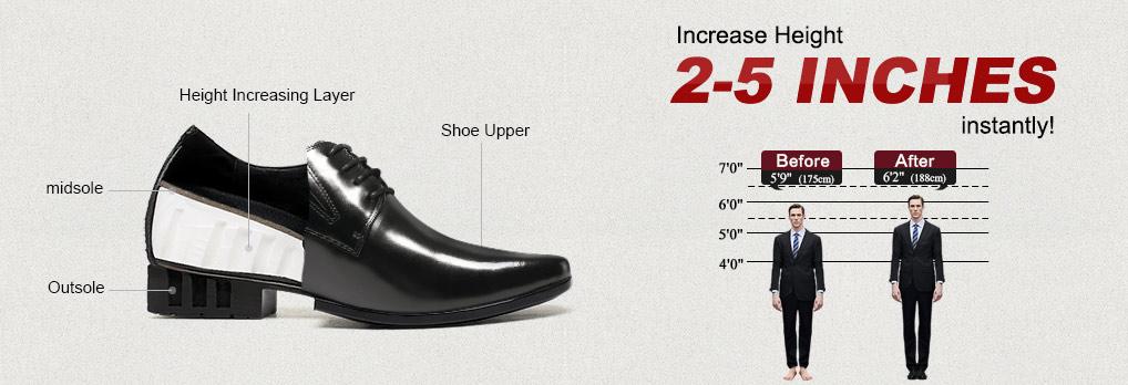 รูปภาพการสวมรองเท้าเสริมส้นก่อนและหลัง