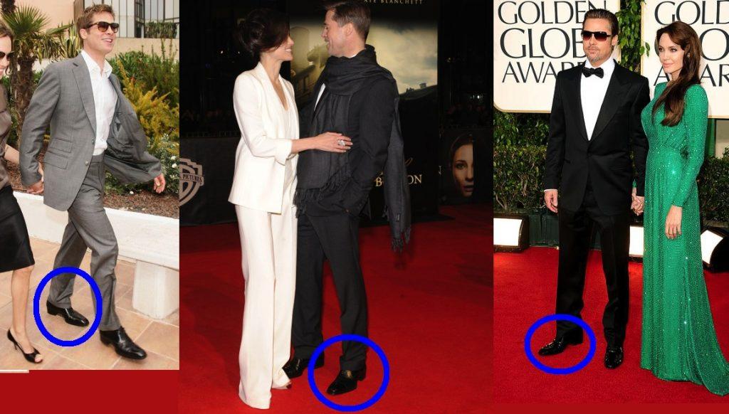 scarpe rialzate Brad Pitt