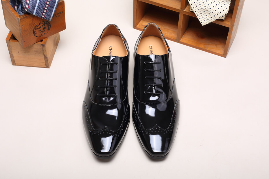 Mens Lifting Shoes Patent leather Elevator Shoes for Men