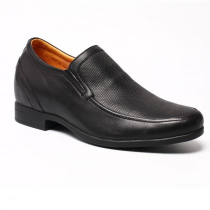 Black Causal Elevator Shoes Business Height Increasing Dress Shoes For Short Men