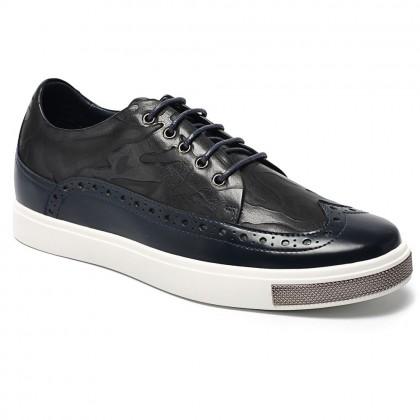 Chamaripa Height Increasing Shoes Classic Brogue Sneaker