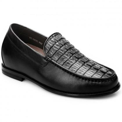 Crocodile Handmade Heel Inserts For Shoes Business Casual Custom Elevator Lifting Men Shoes