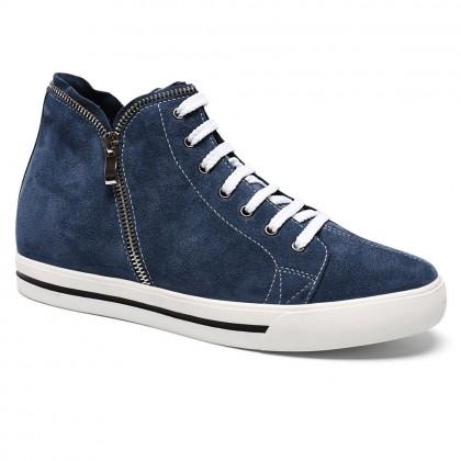 High Heel Shoes Elevator Sneakers Taller Men Shoes