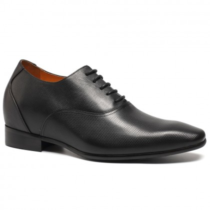 Hot Sale Height Increasing Stylish Classy Shoes For Men Black Elevator Dress Shoes Taller 7.5cm