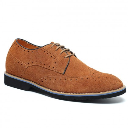Stylish Brogue Increase Height Casual Elevator Shoes
