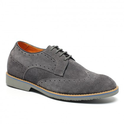 Noble Casual Brogue Height Increasing Shoes For Men