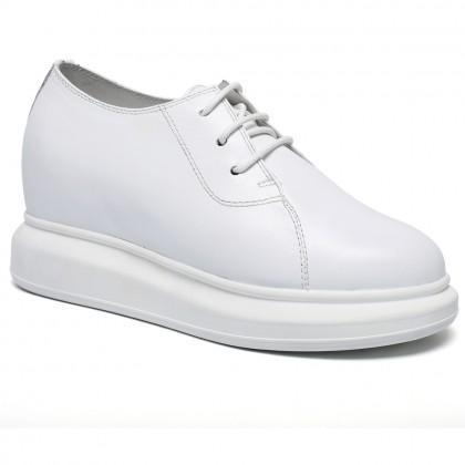 New Women Elevator Shoes Hidden Heel Height Shoes