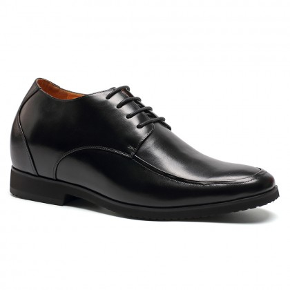 4.13 inch dress black calfskin leather tall shoes for men