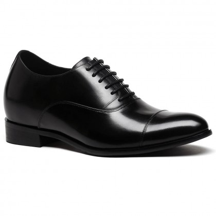 Oxfords Elevator Dress Shoes to Make You Taller Men Cow Leather Wedding Shoes