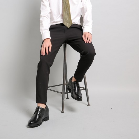 12CM Elevator Shoes High Heel Men Dress Shoes that Give You Height  4.72 Inches