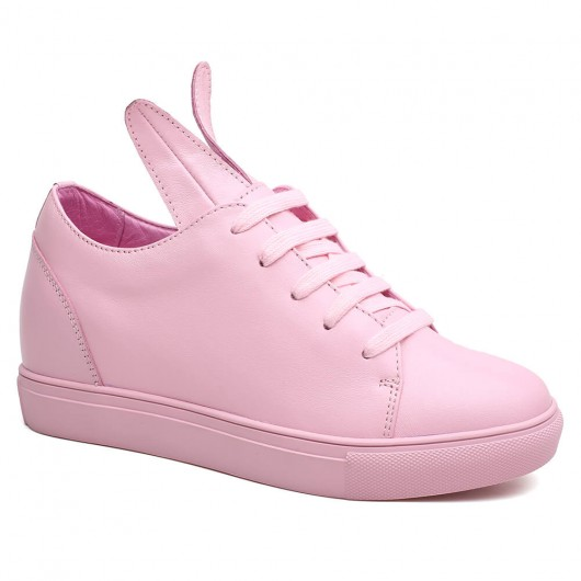 Pink Height Increasing Shoes for Women Shoe with heel lift 8 CM /3.15 Inches