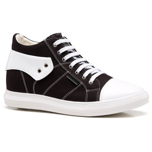 Chamaripa Elevator Shoes Height Increasing Sneakers Casual Canvas Shoes that Get Taller 6 CM / 2.36 Inches