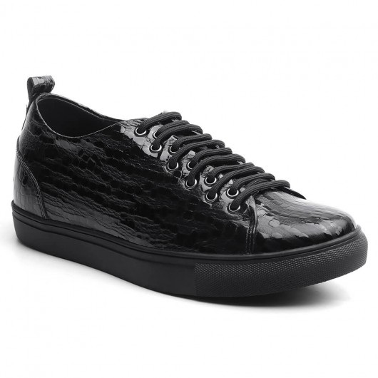 6 CM Black Shoes that make you taller for guys Elevate Shoes for Men 2.36 Inches