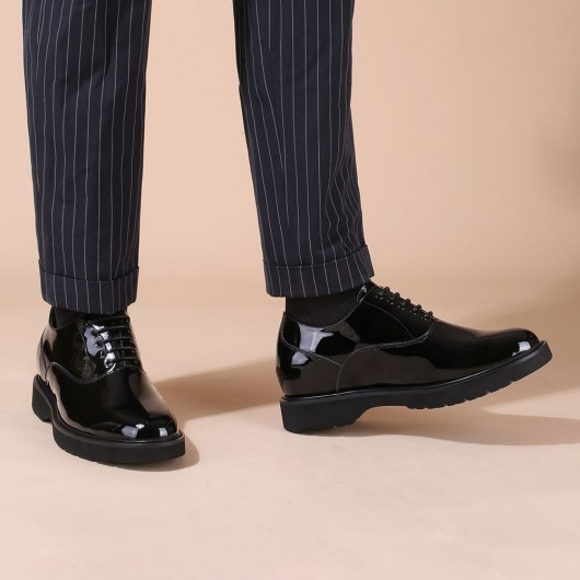 CHAMARIPA dress elevator shoes for men patent leather dress shoes that make you 8CM / 3.15 inches taller