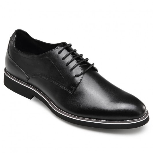 CHAMARIPA elevator derby shoes for men black leather derby make you taller 5CM / 1.95 Inches