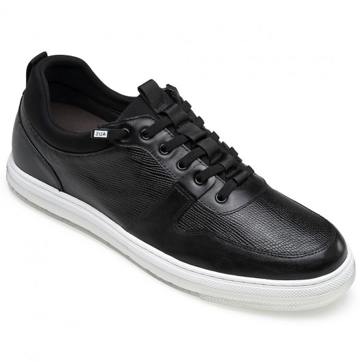 CHAMARIPA elevator shoes for men black leather sneakers that make you 5CM / 1.95 Inches taller