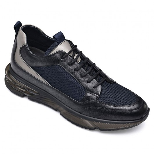 CHAMARIPA elevator shoes for men increasing shoes black mesh breathable sneaker shoes 7 CM / 2.76 Inches taller
