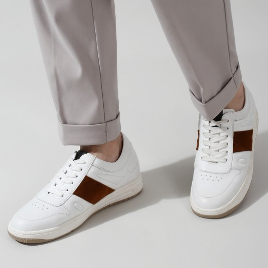 CHAMARIPA height increasing sneakers for men - casual  elevator sneakers white - 6 CM / 2.36 inches taller