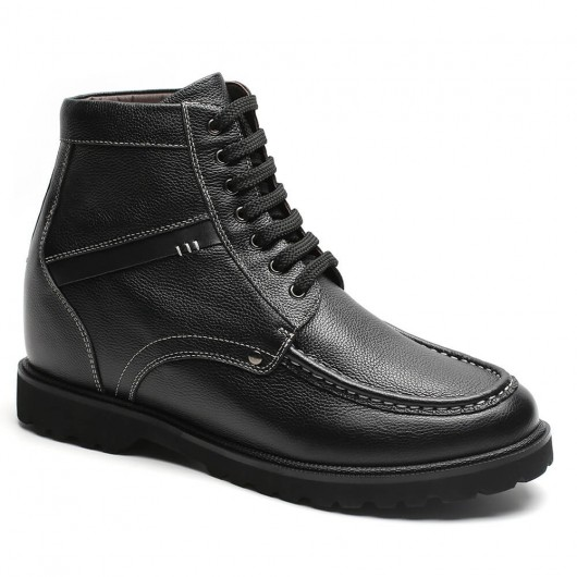 Chamaripa Height Increasing Boots Black Elevator Shoes Casual Tall Men Boots 9 CM / 3.54 Inches