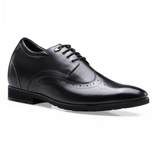Chamaripa Mens Dress Black Height Shoes That Make Men Taller 10CM
