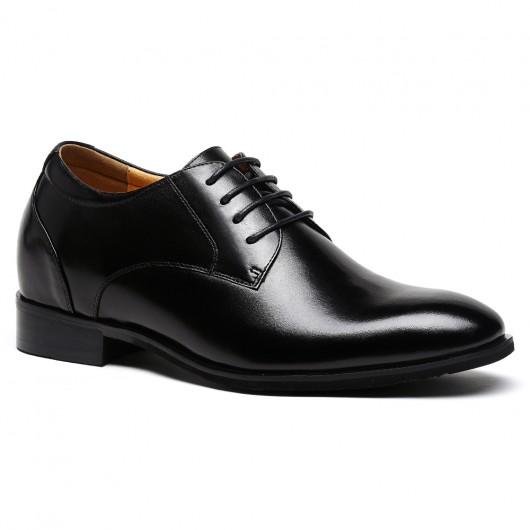 Men Pointy Toe Black Elevator Dress Shoes Look Taller 7.5CM/2.95 Inch