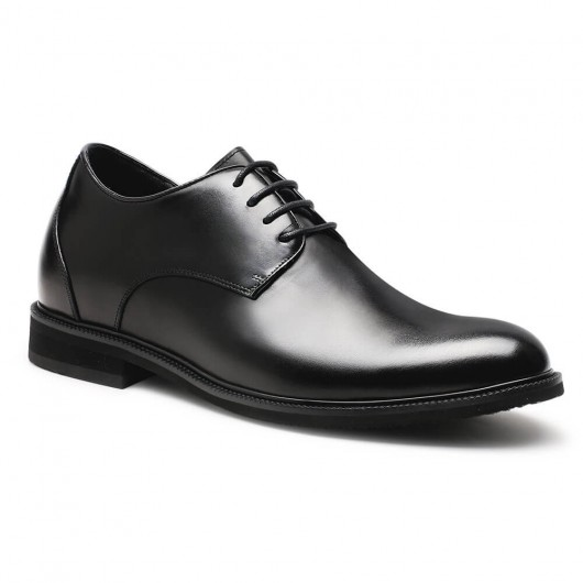 Chamaripa high heel men dress shoes formal height increase shoes black derby shoes to get taller 6 CM / 2.36 Inches