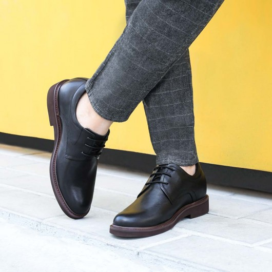 Chamaripa Dress Elevator Shoes Black Tall Men Shoes High Heel Dress Shoes for Men 7 CM / 2.76 Inches