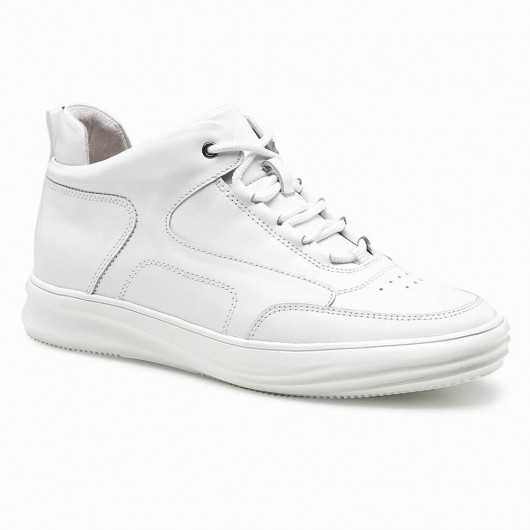 Chamaripa elevator sneakers for men white sneakers that add height invisible 6 CM / 2.36 Inches