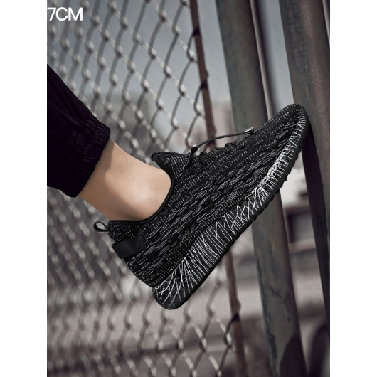 Chamaripa elevator sneakers that give you height 7 CM black height increasing sneakers 2.76 Inches