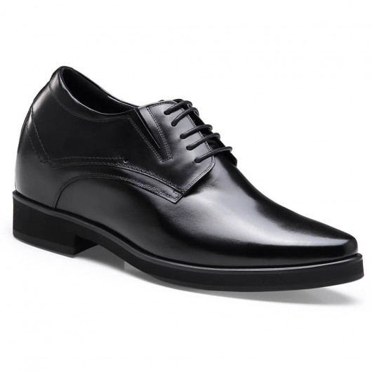 Chamaripa formal height increasing shoes black tall men shoes high heel men dress shoes 10 CM / 3.94 Inches