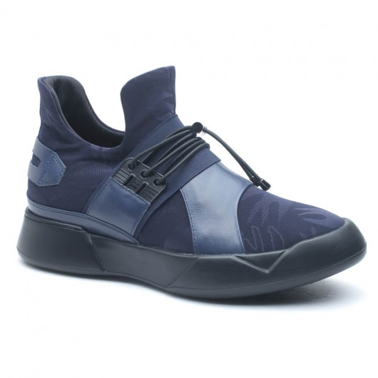 Breathable Elevator Sneaker Outdoor Men Lifting Shoes Casual Sports Shoes to Look Taller 7 CM/2.76 Inches