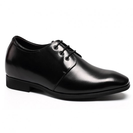Height Black Elevator Shoes Stylish Dress Wedding Shoes Lift Shoes 8CM /3.15 Inches
