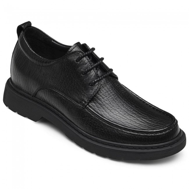 CHAMARIPA business casual elevator shoes black leather tall men shoes 7CM / 2.76 Inches