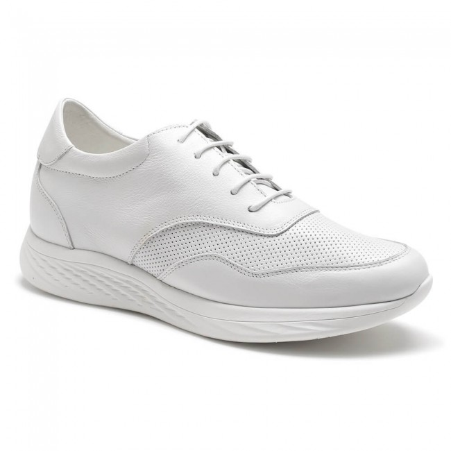 Chamaripa casual tall men shoes white shoes to increase height comfort walk tall shoes 7CM /2.76 Inches
