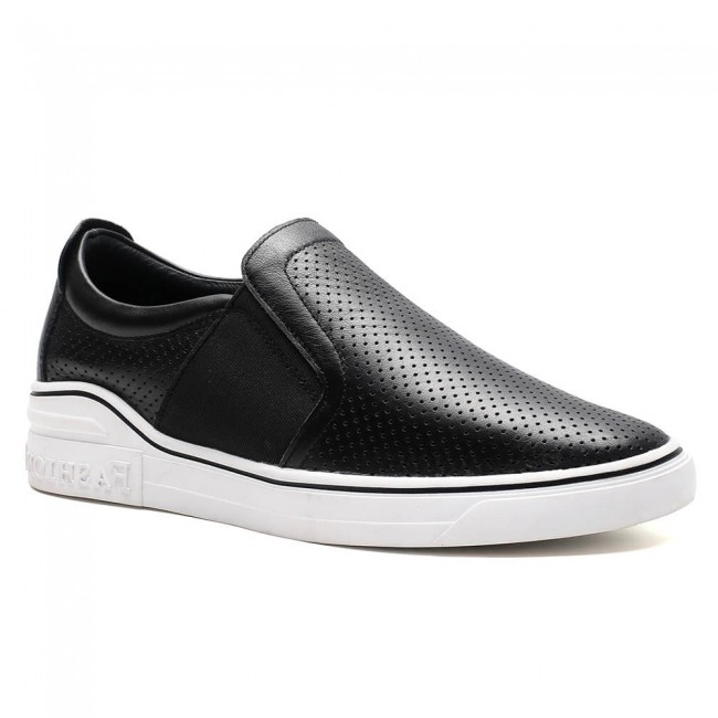 Chamaripa Sneakers that give you height slip-on casual black elevator sneaker for men 6CM /2.36 Inches