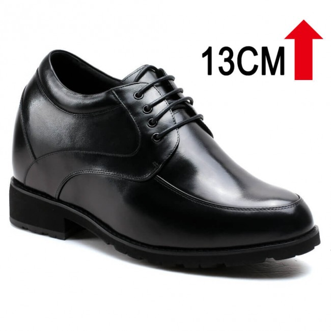 13CM Elevator Shoes High Heel Men Dress Shoes that Give You Height 5.12 Inches