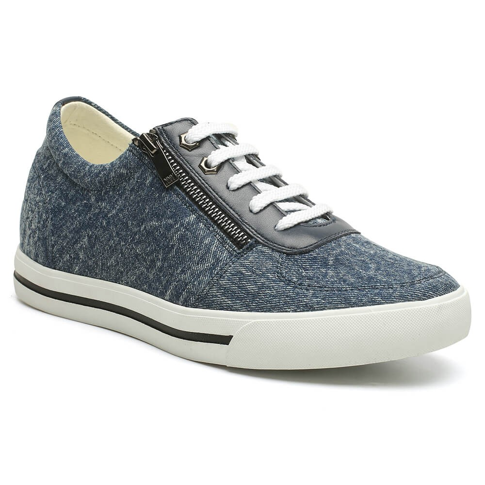 2.36 Inches Elevator Shoes Mens Canvas