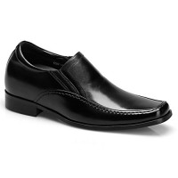 Men Genuine Leather Oxford Elevator Business Dress Shoes Height Increasing 7.5CM/2.95inch
