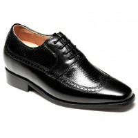 High quality calfskin leather elevator dress men shoes