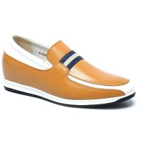 Casual Height Increasing Boat Shoes Slip-on Elevator Shoes 6cm/2.36 Inches