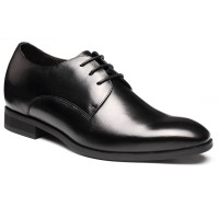 CHAMARIPA Black Height Increasing Dress Men Shoes for height