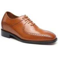 CHAMARIPA Men Height Increasing Elevator Shoes Calfskin Leather Shoes