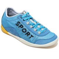 Blue elevator sport  shoes spring/summer breathable mesh make you taller 6cm / 2.36 inches