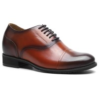 brown mens height increasing shoes that make you taller genuine leather dress elevator shoes