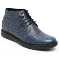 Cowboy High Heel Boots for Men Height Increasing Tall Men Boots Taller 7cm / 2.76 inch